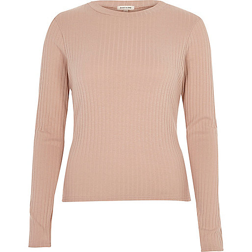 Dusty softly ribbed top