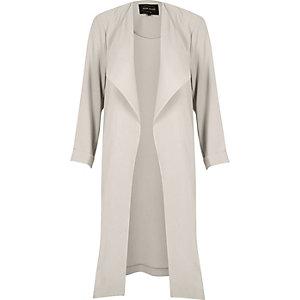 Grey popper duster jacket