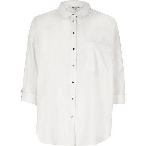 White relaxed shirt