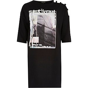 Black short sleeve Eternal jumbo T-shirt