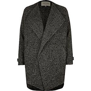 Black textured fallaway jacket