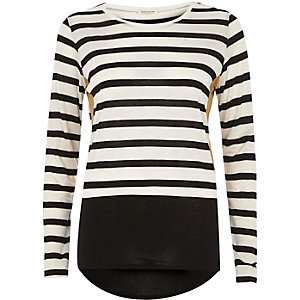 White block stripe top