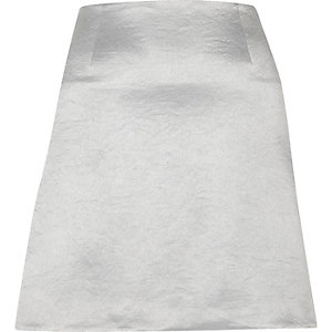 Silver metallic mini skirt