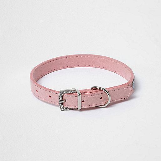 RI Dog pink embellished dog collar