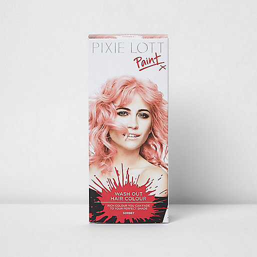 Pink sorbet Pixie Lott wash out hair colour