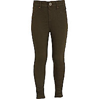 Girls khaki jeggings