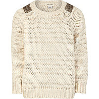 Girls cream stripe jumper