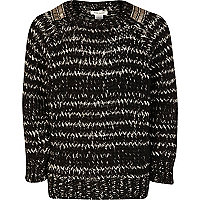 Girls black stripe jumper