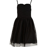 Girls black ballerina dress
