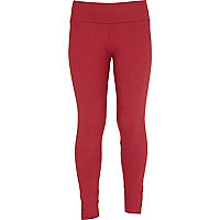 Girls red tuxedo studded leggings