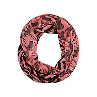 Girls pink zebra print snood