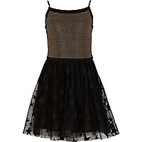 Girls black star ballerina dress