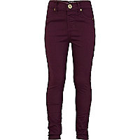 Girls dark purple jeggings