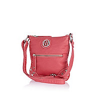 Girls pink messenger bag