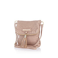 Girls pink flap over bag