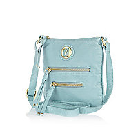 Girls blue mini messenger bag