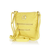 Girls yellow mini messenger bag