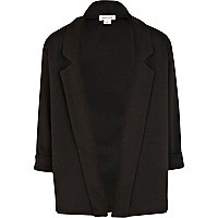 Girls black ponte blazer