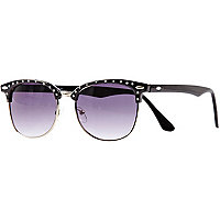 Girls black diamante sunglasses