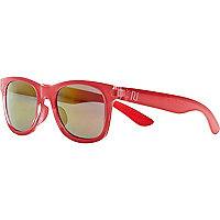 Girls coral retro sunglasses