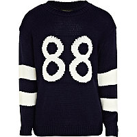 Girls navy 88 varsity jumper