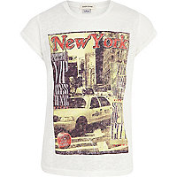 Girls white New York magazine t-shirt