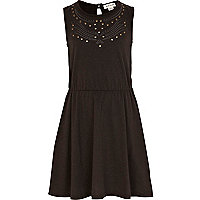 Girls black cut out dress