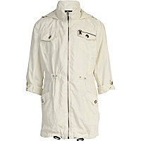 Girls white utility parka jacket