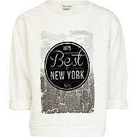 Girls cream best of NY sweat top