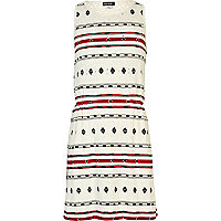 Girls cream aztec stripe relaxed skater dress