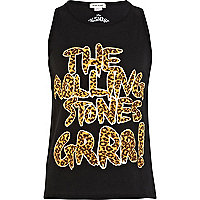 Girls black The Rolling Stones grr! tank top