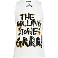 Girls white The Rolling Stones grr! tank top