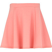Girls coral skater skirt