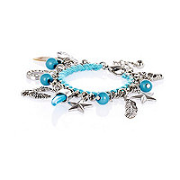 Girls blue charm bracelet