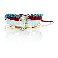 Girls blue festival bangle pack