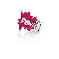 Girls pink pow ring