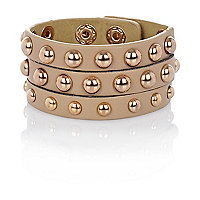 Girls light brown studded cuff
