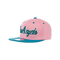 Girls turquoise Los Angeles trucker hat