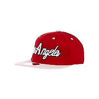 Girls red Los Angeles trucker hat