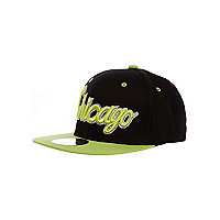 Girls lime Chicago trucker hat
