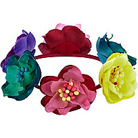 Girls multi coloured floral bracelet