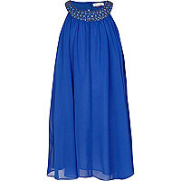Girls blue babydoll dress
