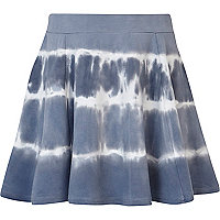 Girls blue tie dye skater skirt