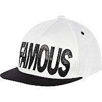 Girls black and white famous cap