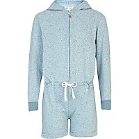 Girls blue diamante onesie