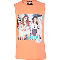 Girls orange Little Mix tank top