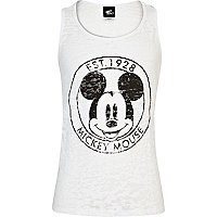 Girls white Mickey Mouse burnout tank top