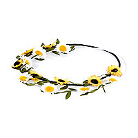 Girls yellow two pack sunflower garland