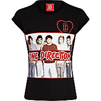 Girls black One Direction photograph t-shirt