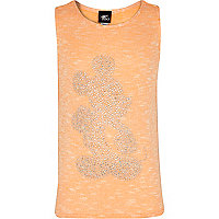 Girls orange Mickey Mouse studded vest